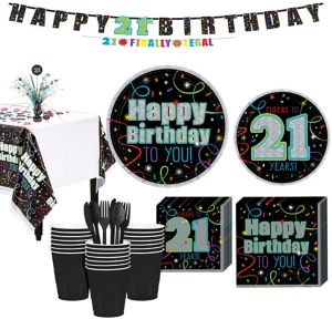 Brilliant 21st Birthday Party Kit for 32 Guests