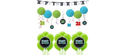 Brilliant Birthday Decorating Kit with Balloons