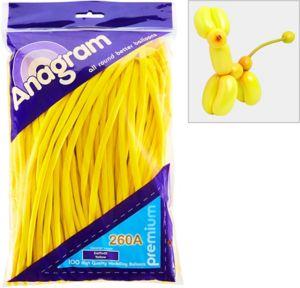 Long Yellow Twisting Balloons 100ct