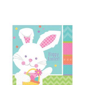 Hippity Hop Easter Bunny Beverage Napkins 16ct