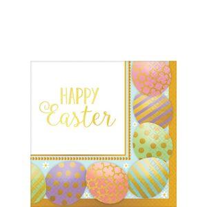 Golden Easter Egg Beverage Napkins 8ct