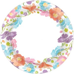 Spring Has Sprung Floral Dinner Plates 40ct