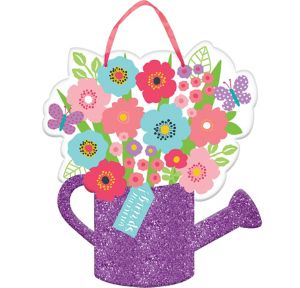 Glitter Watering Can Spring Sign