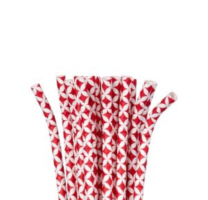Red Diamond Paper Straws 24ct