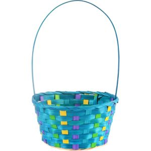 Small Blue Easter Basket
