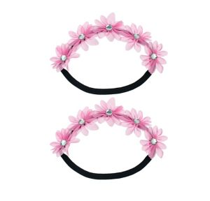 Pink Floral Headwreath