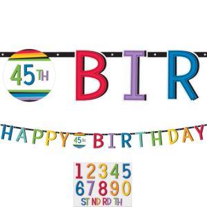 Rainbow Happy Birthday Banner Kit