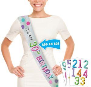 Rainbow Happy Birthday Sash Kit