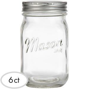 CLEAR Glass Mason Jars 6ct