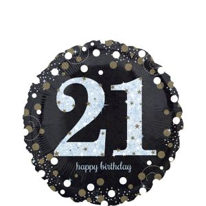 21st Birthday Balloon - Sparkling Celebration