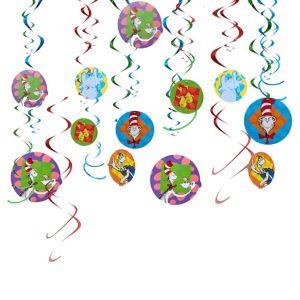 Dr. Seuss Swirl Decorations 12ct