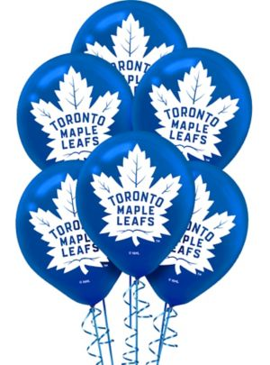 Toronto Maple Leafs Balloons 6ct Party City