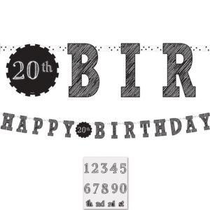 Chalkboard Birthday Letter Banner Kit