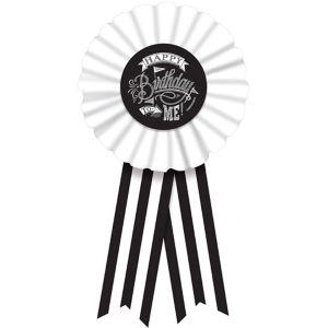 Chalkboard Dots Birthday Award Ribbon