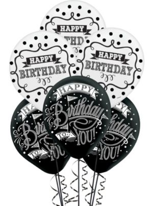 Chalkboard Dots Birthday Balloons 15ct
