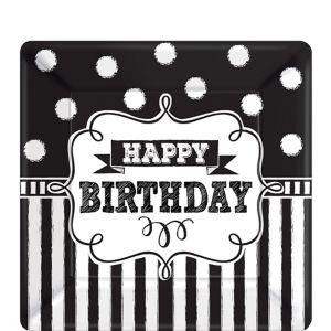 Chalkboard Birthday Dessert Plates 8ct