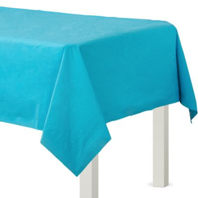 Caribbean Blue Paper Table Cover