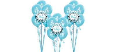 Blue Safari Boy Baby Shower Balloon Kit 18ct