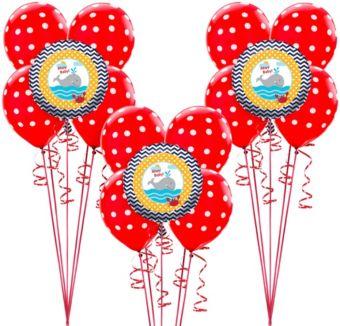 Ahoy Nautical Baby Balloon Kit 15ct