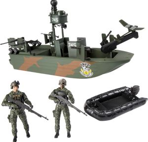Elite Force Naval Specialist Warfare Gunboat Playset 5pc