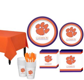 Clemson Tigers Basic Party Kit for 16 Guests