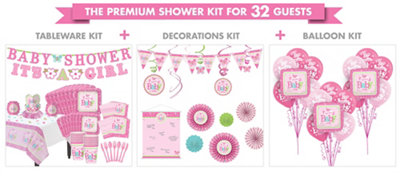 Welcome Baby Girl Premium Kit 32 Guests