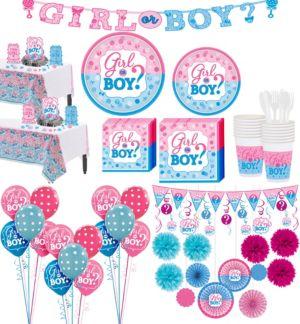 Boy or Girl Gender Reveal Premium Kit 32 Guests