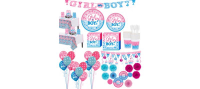 Boy or Girl Gender Reveal Premium Kit 32 Guests