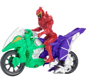 Red Ranger Dino Cycle Playset 3pc - Power Rangers Dino Super Charge