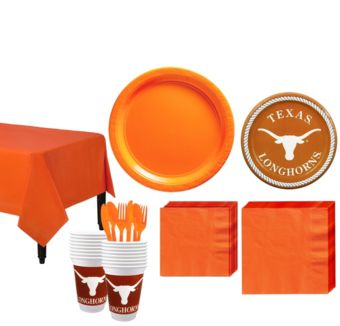 Texas Longhorns Basic Party Kit for 16 Guests