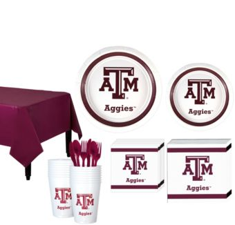 Texas A&M Aggies Basic Party Kit for 16 Guests