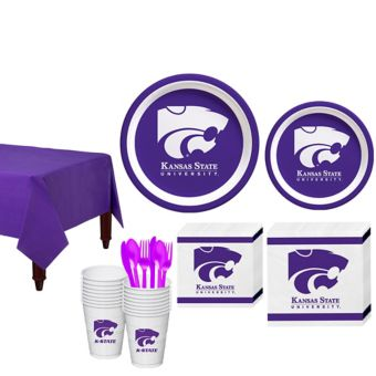 Kansas State Wildcats Basic Party Kit for 16 Guests