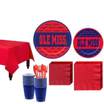 Ole Miss Rebels Basic Party Kit for 16 Guests