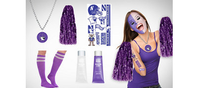 Northwestern Wildcats Fan Gear Kit