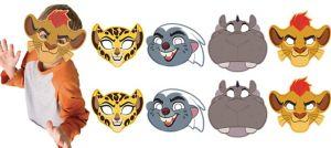 Lion Guard Masks 8ct