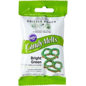 Wilton Bright Green Candy Melts Drizzle Pouch
