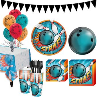 Bowling Super Party Kit for 16 Guests