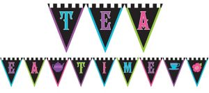 Mad Tea Party Pennant Banner