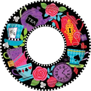 Mad Tea Party Dinner Plates 8ct