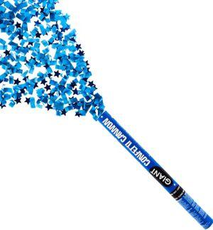Giant Blue Graduation Confetti Cannon