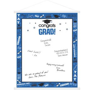 Blue Graduation Sign-In Sheet