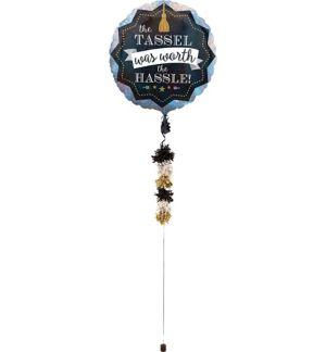 Graduation Balloon with Balloon Weight Tail
