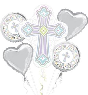 Blessed Day Religious Balloon Bouquet 5pc
