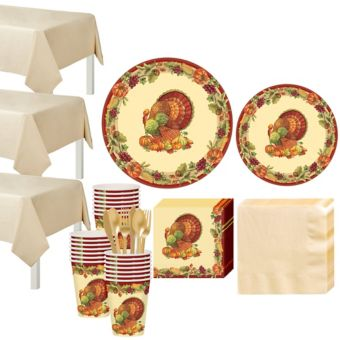 Joyful Thanksgiving Tableware Kit for 100 Guests