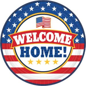 Patriotic Welcome Home Lunch Plates 18ct