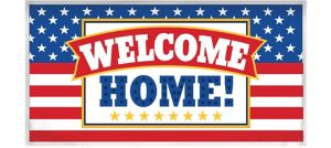 Giant Patriotic Welcome Home Banner