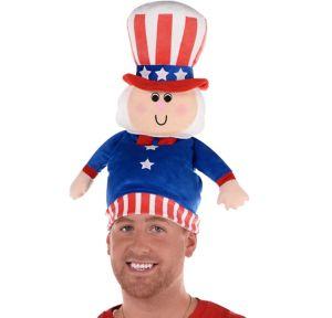 Plush Patriotic Uncle Sam Hat