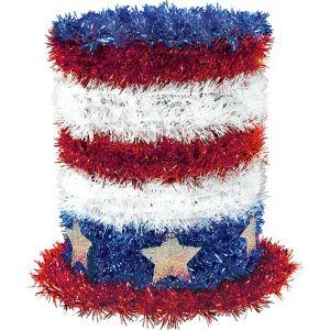 Tinsel Patriotic Top Hat
