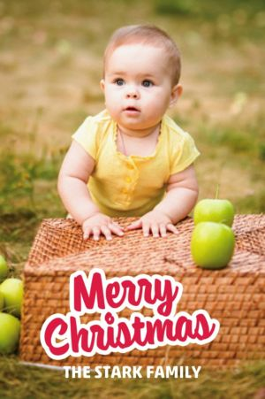 Custom Merry Christmas Photo Card