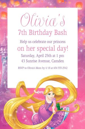 Custom Rapunzel Invitation